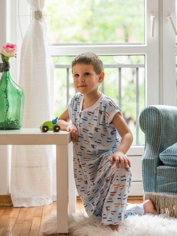 Liberina vreća za spavanje sa nogavicama - jedan sloj tankog pamuka - bez rukava - Retro
