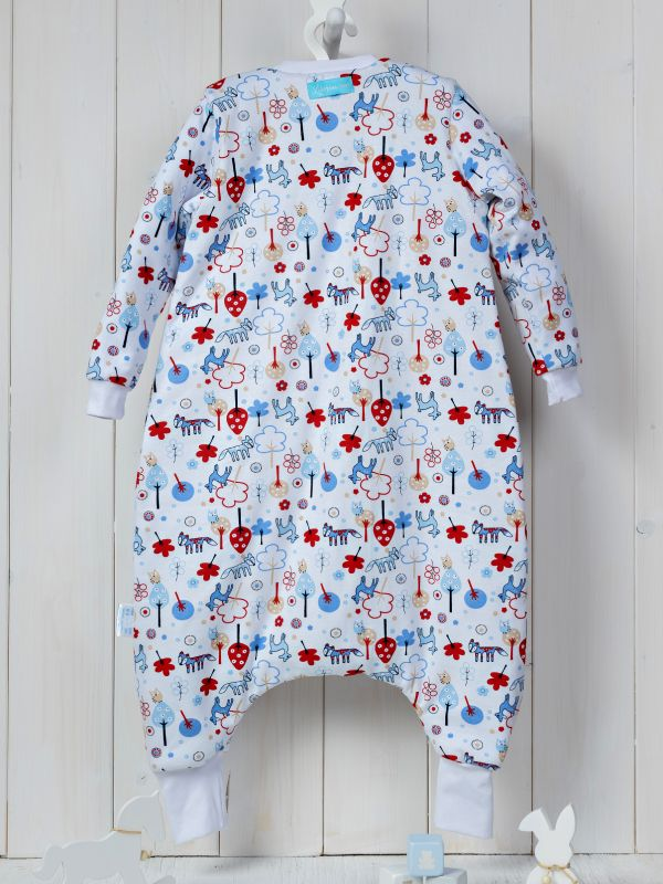 Liberina vreća za spavanje sa nogavicama - dva sloja pamuka - dugi rukavi - Bambi