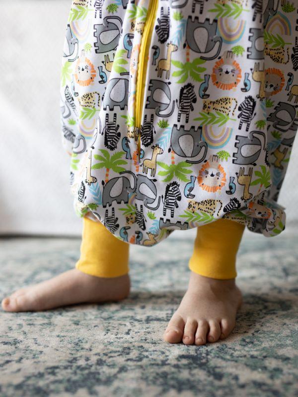 Liberina vreća za spavanje sa nogavicama - jedan sloj punijeg pamuka - bez rukava - Džungla