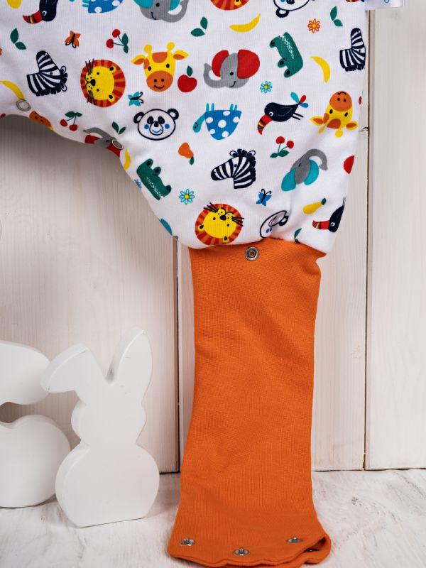 Liberina punjena vreća za spavanje sa nogavicama - bez rukava - dodatak za stopala - Životinjice