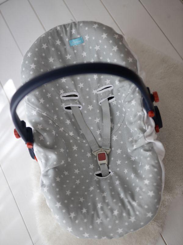 Liberina presvlaka za bebi auto sedište od pamučnog muslina - Zvezdice