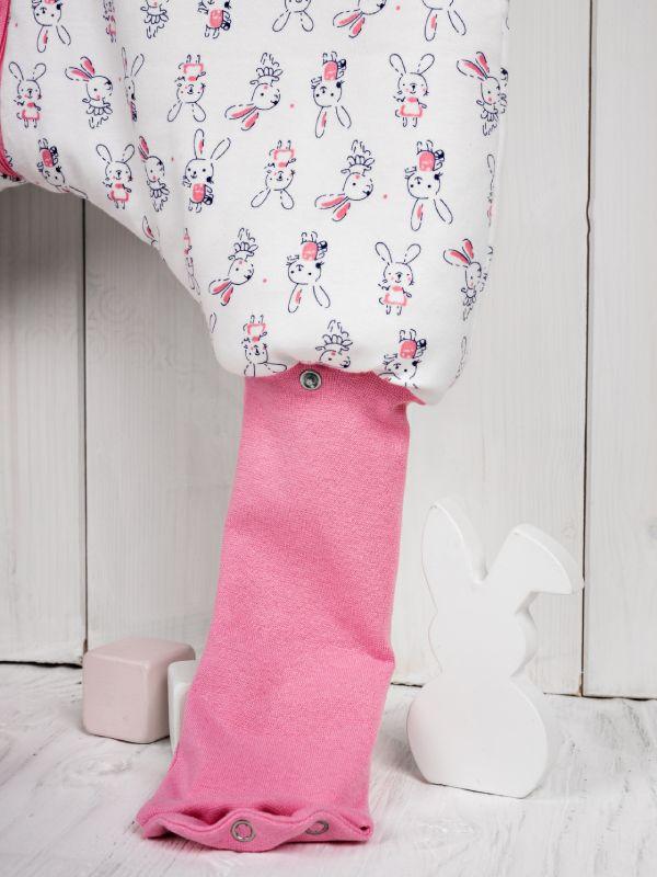 Liberina punjena vreća za spavanje sa nogavicama  - dugi rukavi od dva sloja pamuka - dodatak za stopala - Zeke roze