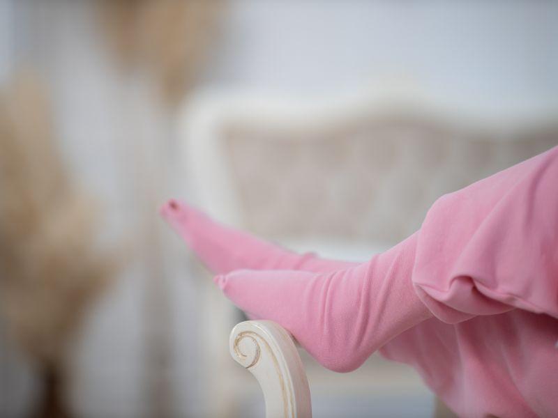Liberina vreća za spavanje sa nogavicama - dva sloja pamuka - bez rukava - dodatak za stopala - Roze