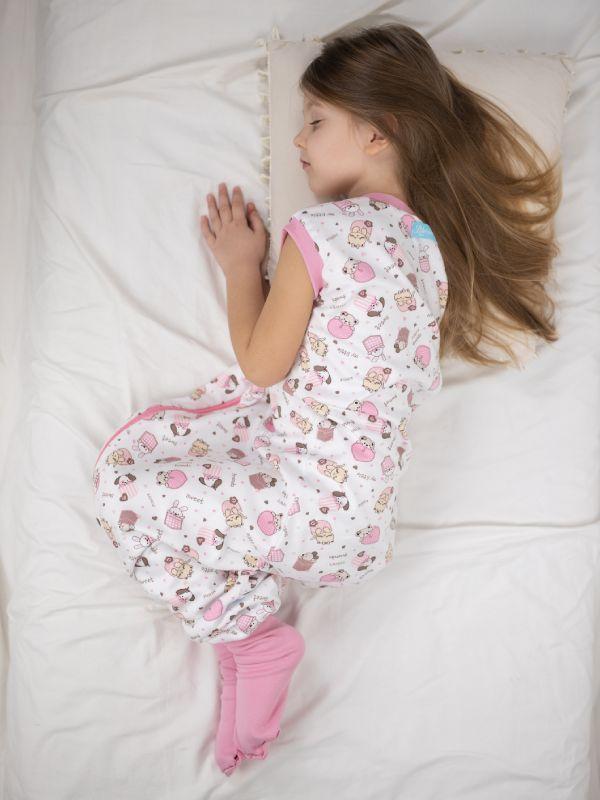 Liberina vreća za spavanje sa nogavicama - dva sloja pamuka - bez rukava - dodatak za stopala - Slatke životinjice