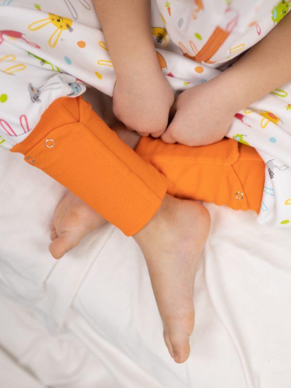 Liberina vreća za spavanje sa nogavicama - dva sloja pamuka - bez rukava - dodatak za stopala - Zeke narandžaste