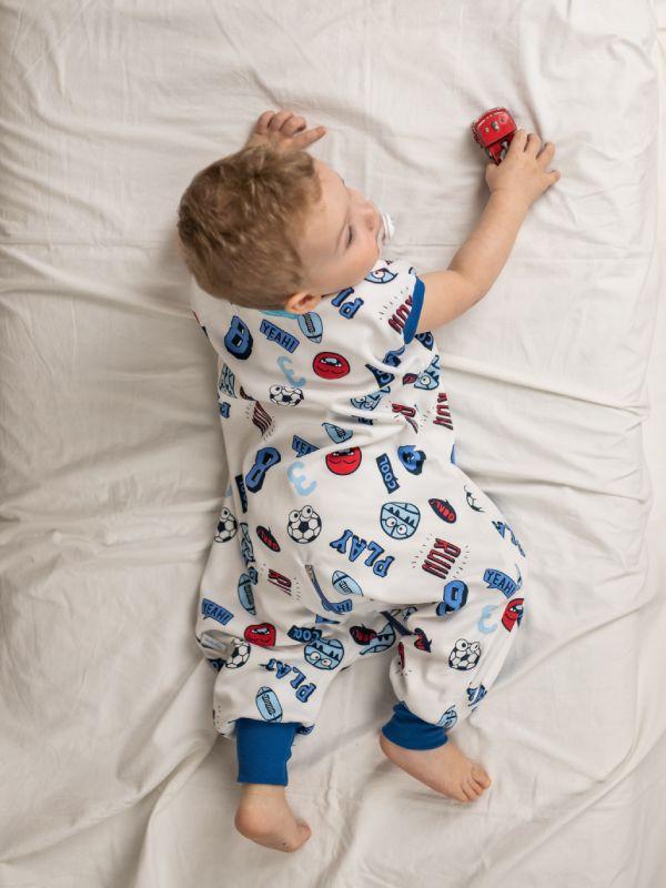 Liberina vreća za spavanje sa nogavicama - dva sloja pamuka - bez rukava - Lopte