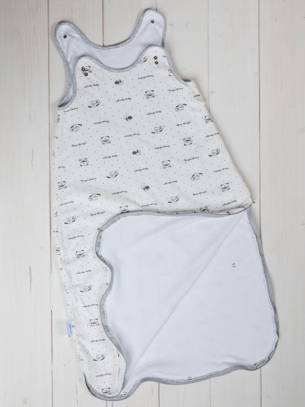 Liberina vreća za spavanje bez nogavica - dva sloja pamuka - bez rukava - Mede sive