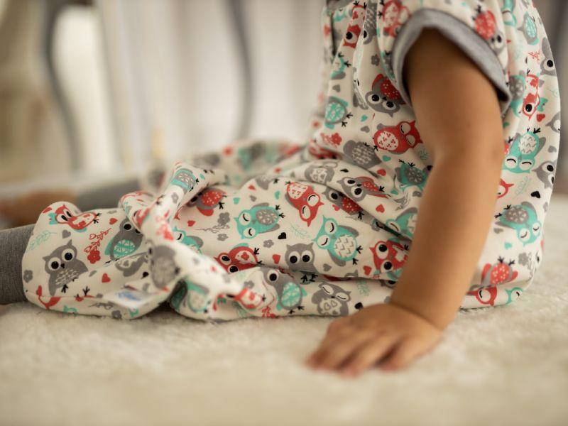Liberina vreća za spavanje sa nogavicama - dva sloja pamuka - bez rukava - Sove sive