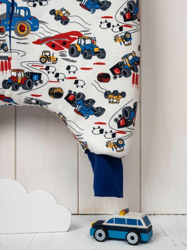 Vreća za spavanje sa nogavicama - dva sloja pamuka - bez rukava - Traktori