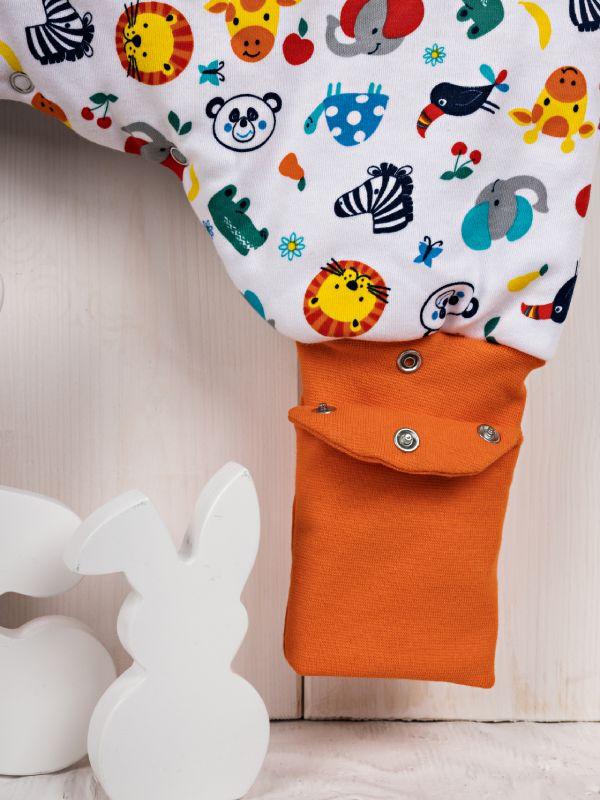Liberina vreća za spavanje sa nogavicama - dva sloja pamuka - bez rukava - dodatak za stopala - Životinjice