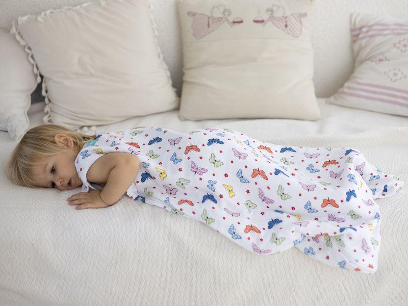 Liberina vreća za spavanje - dvostruki pamučni muslin - Leptirići