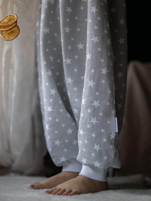 Liberina vreća za spavanje - jedan sloj pamučnog muslina - Zvezdice