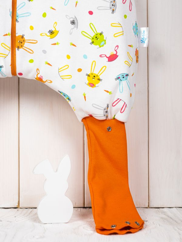 Liberina vreća za spavanje sa nogavicama - punjena - bez rukava - dodatak za stopala - Zeke narandžaste