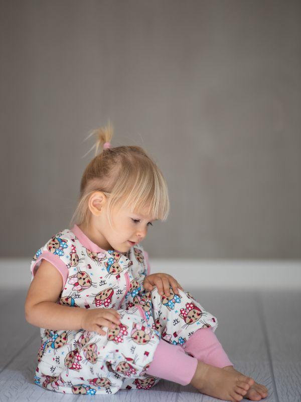 Liberina vreća za spavanje sa nogavicama - punjena - bez rukava - Mace sa mašnama