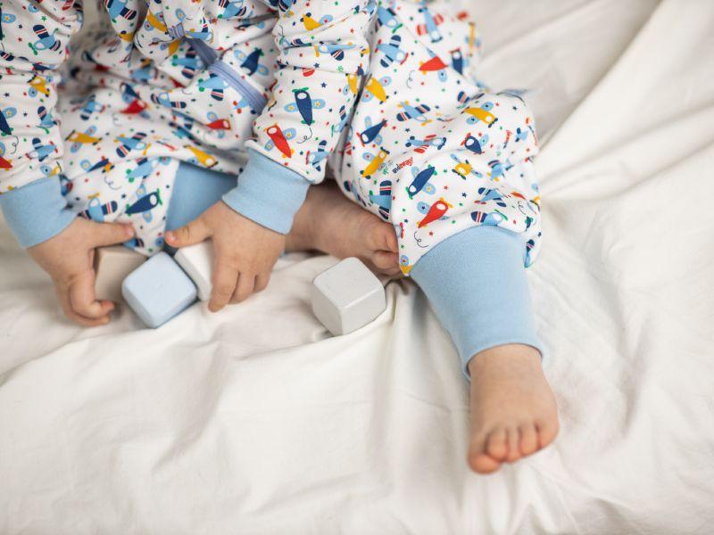 Liberina punjena vreća za spavanje sa nogavicama - dugi rukavi od dva sloja pamuka - Avioni