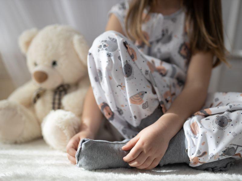 Liberina vreća za spavanje sa nogavicama - dva sloja pamuka - bez rukava - dodatak za stopala - Sivi lavići