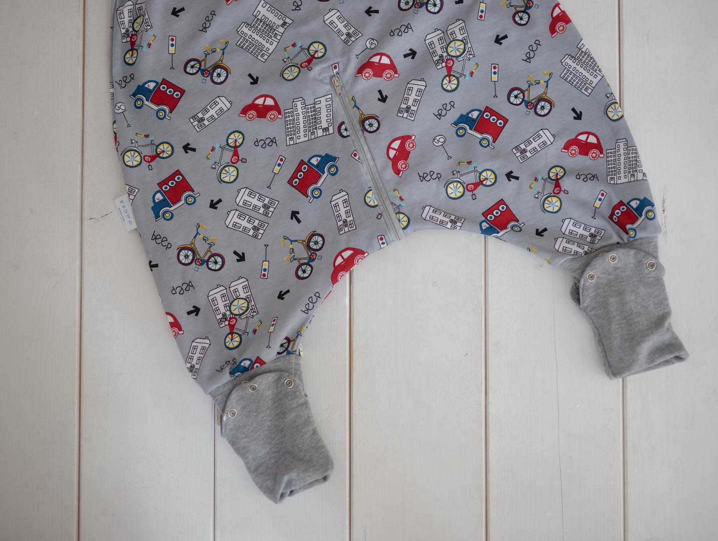 Liberina vreća za spavanje sa nogavicama - jedan sloj punijeg pamuka - bez rukava - dodatak za stopala - Saobraćaj