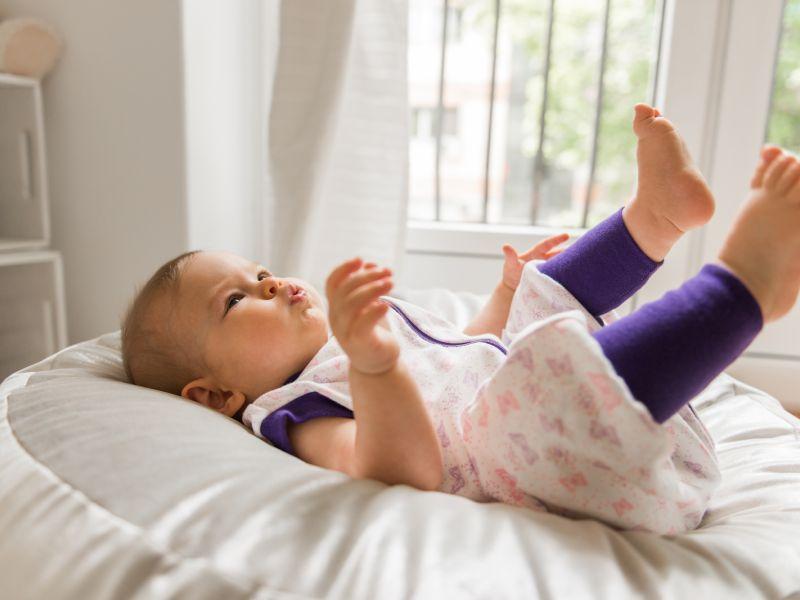 Liberina vreća za spavanje sa nogavicama - jedan sloj punijeg pamuka -bez rukava - Leptirići