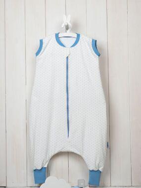 Vreća za spavanje - jedan sloj pamuka - bez rukava - Tufnice plave