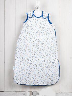 Vreća za spavanje - dva sloja pamuka - bez rukava - Zvezdice plavo-sive